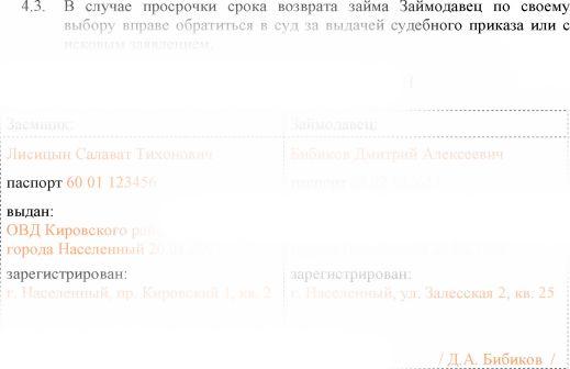Договор Займа Между Физическими Лицами Образец И Расписка - фото 10
